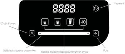 Mixér BlendTec CHEF 775F, rozhraní