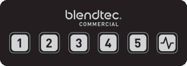 Komerční mixér BlendTec Connoisseur 825, rozhraní