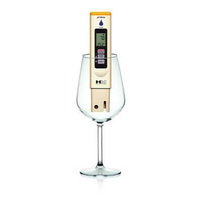 Digitální měřič pH HM Digital PH-80 ve sklenici