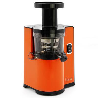 Vertikální odšťavňovač Sana EUJ-808 oranžový firmy Omega, ze strany