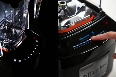 Komerční blender BlendTec Stealth 875, rozhraní