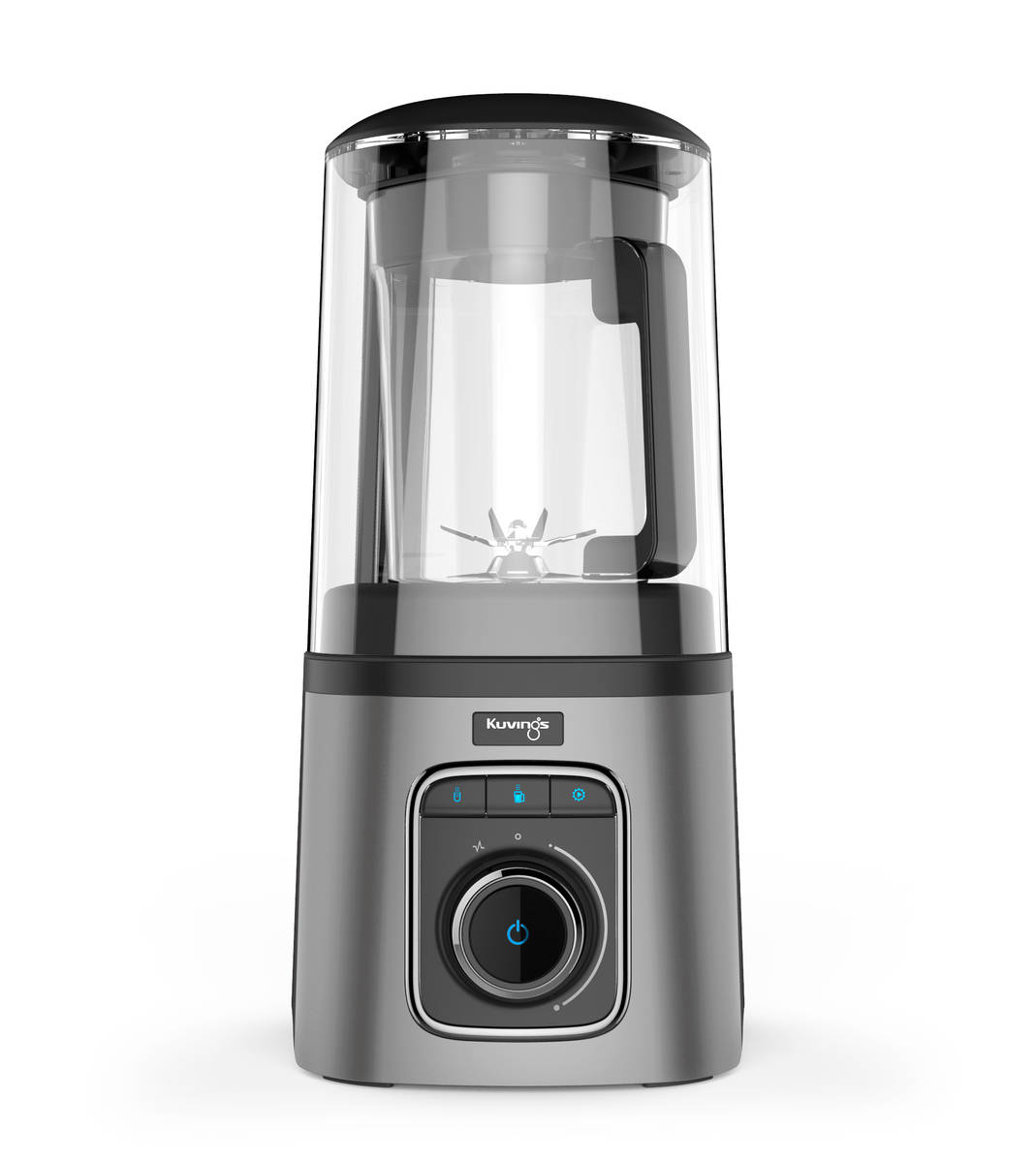 kuvings sv-500 vacuum blender silver front