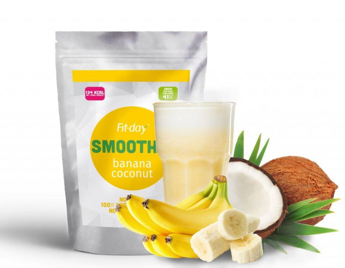 Fit-day Smoothie banán-kokos 90 g