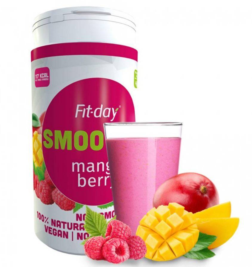 Fit-day Smoothie mango-malina 600 g