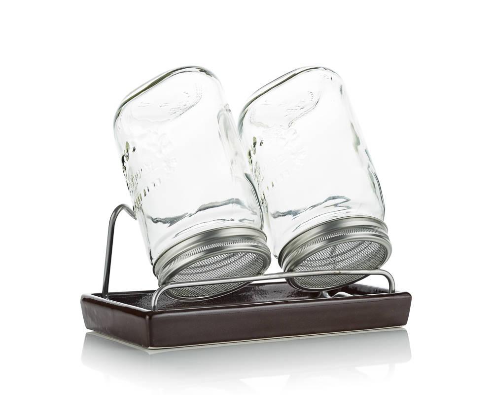sklenice na klíčení Eschenfelder II 1 l hnědá