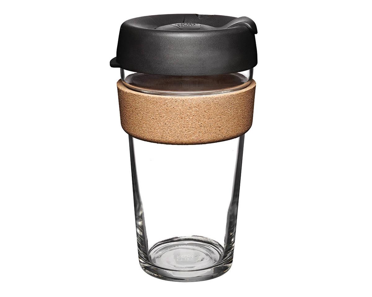 Populární termohrnek z tvrzeného skla ideální pro uchování kávy, smoothie a čerstvé šťávy na cesty.