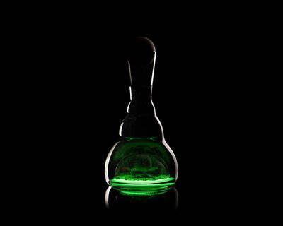 harmonizační karafa ViaHuman - lesní sklo