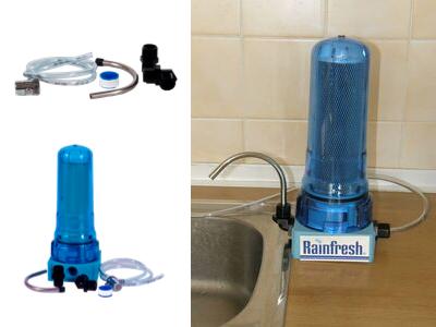 připojení vodovodního filtru Rainfresh k baterii