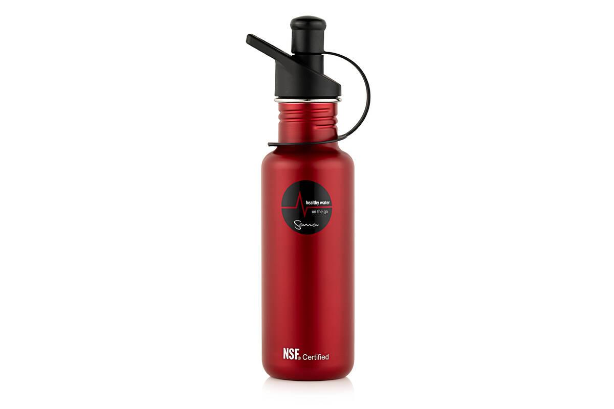 filtrační láhev Sana 600 ml červená