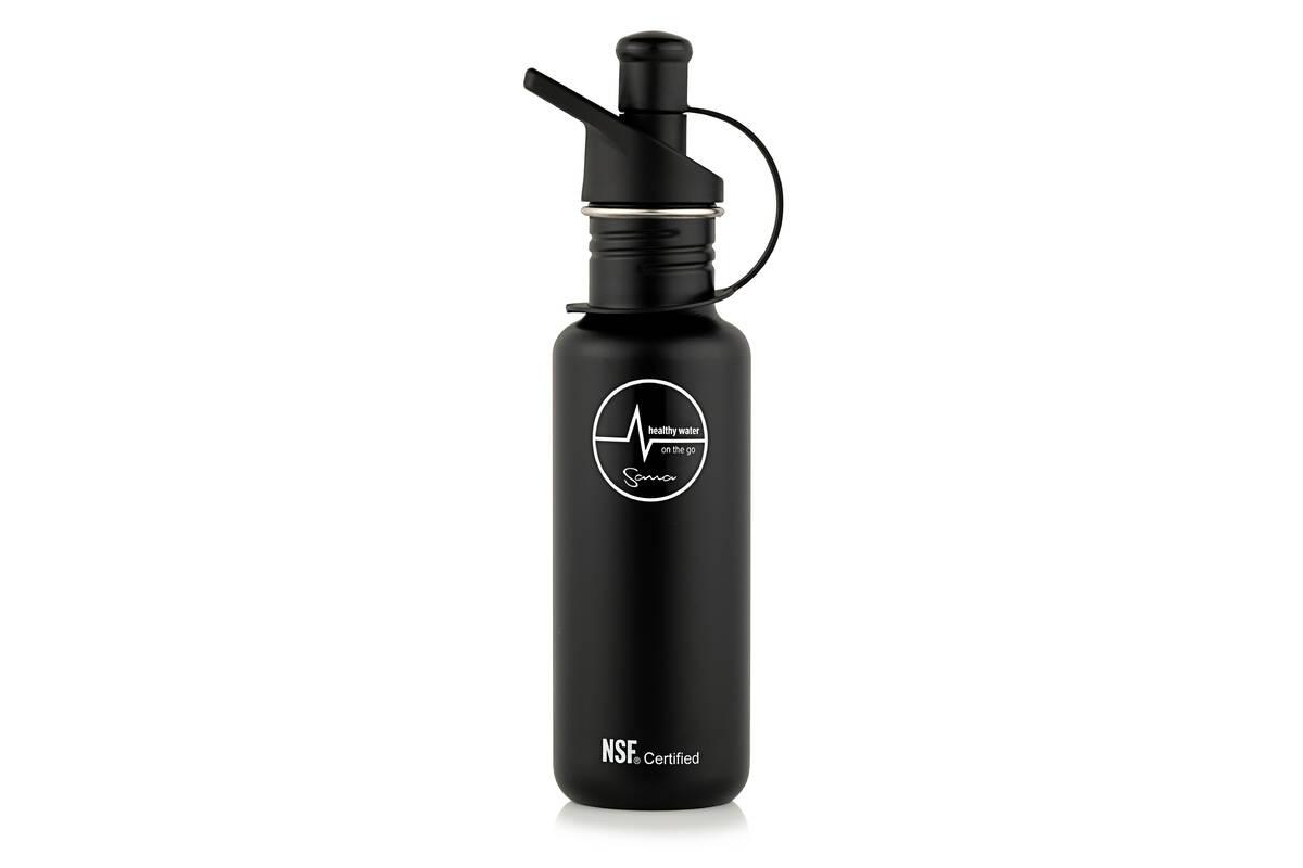 filtrační láhev Sana 600 ml černá