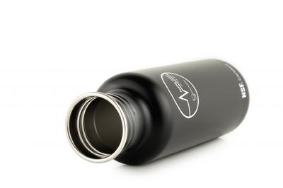 Sana stainless steel bottle open black