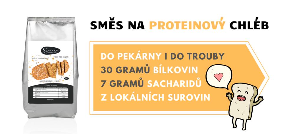 proteinový chléb Sana